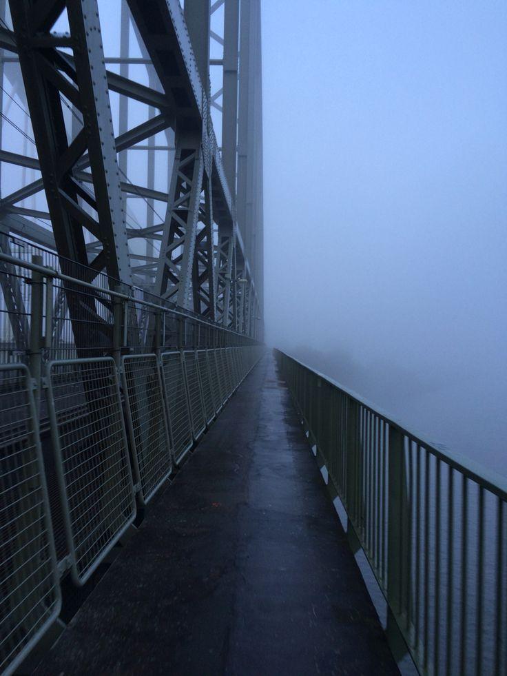 Demka bridge Utrecht, NL in the fog