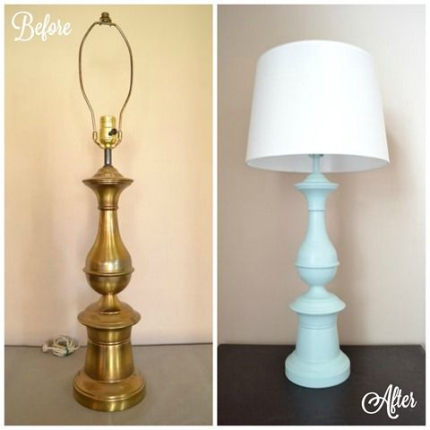 Thrift Store Lamp for the Living room