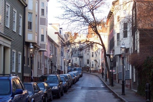 Charlestown section of Boston, Mass.  If I had to move back to NE, this would be where I would want to live.