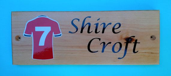 Solid Pine hand crafted themed house name by bobswoodnstuff