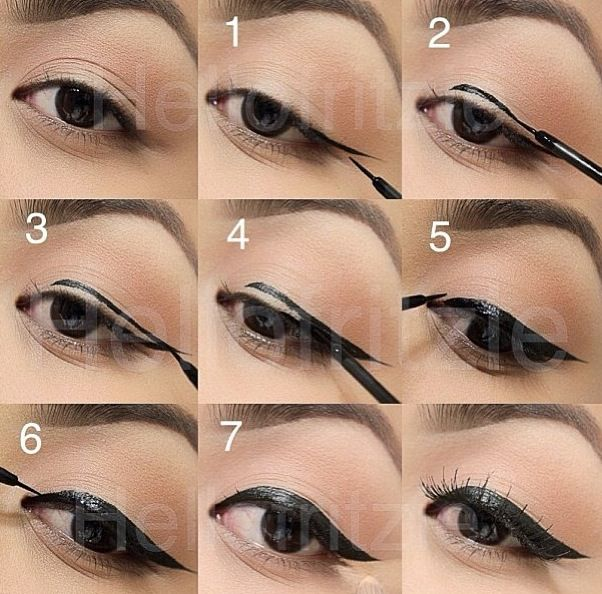 a step by step on eyeliner cat eye perfection pinterest eyeliner and step by step. Black Bedroom Furniture Sets. Home Design Ideas