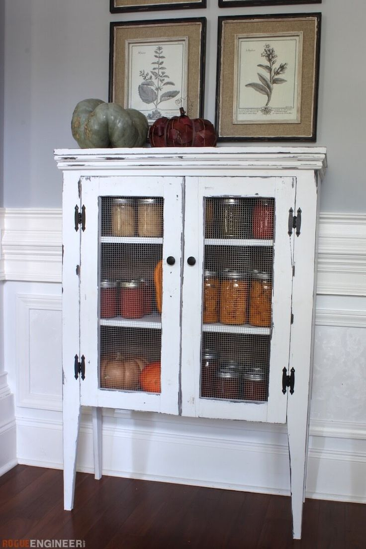 DIY Jelly Cabinet Plans - Free DIY Plans   | rogueengineer.com #Jelly Cabinet #KitchenDIYplans