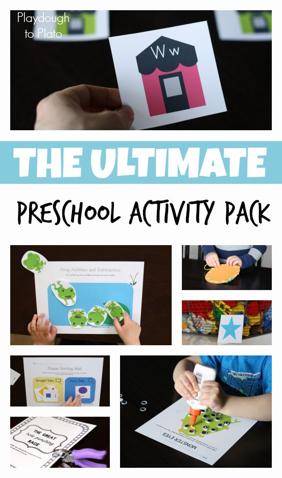 42 printable math, literacy and fine motor preschool activities. Great for classroom teachers and at home preschools.