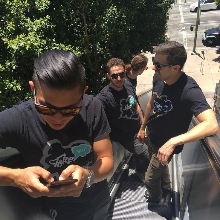The guys from Tokewithapp with their #tshirts   Find more #pics on the site or  create your own #tee using the fastest, smartest t-shirt ordering platform in the world!