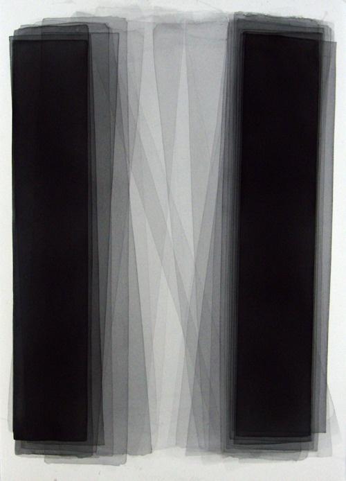 Black watercolor painting, 152.4 x 101.6 cm, Joachim Bandau (2004)