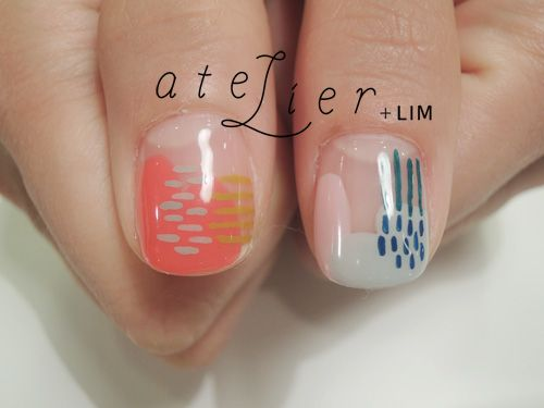 Vacation Nails | Polish Design | via Less is More | I am not a huge fan of nail design but this is reeaaaaalllly cute.