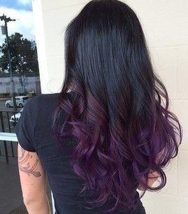 #purple #ombre #brunette