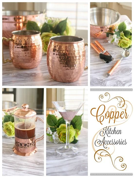 Sharing my new obsession with Copper Kitchen Accessories