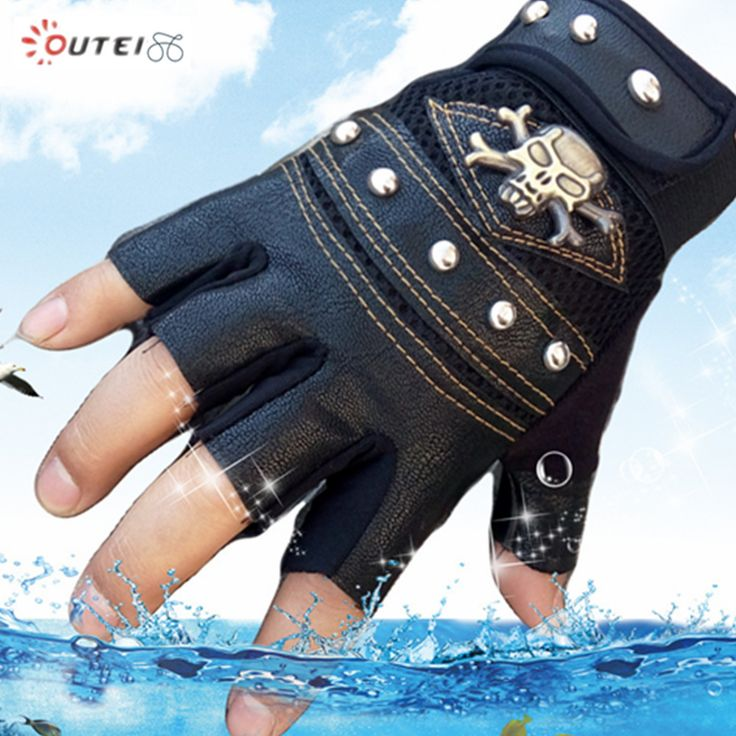 High Quality Skull Gloves military tactical glove Half-finger mittens men winter sport guante luvas de couro tatica G29(China (Mainland))