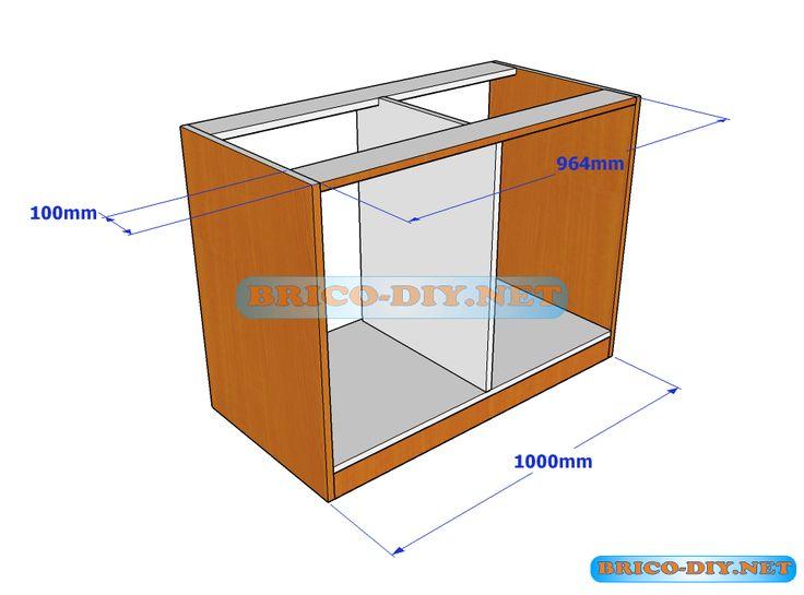 Diagrama de la estructura de un mueble para el dormitorio for Plano alacena melamina