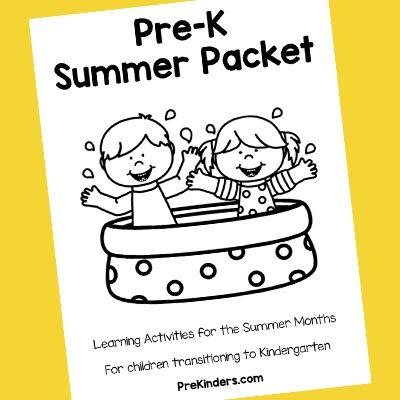 PreK Summer Packet Activities
