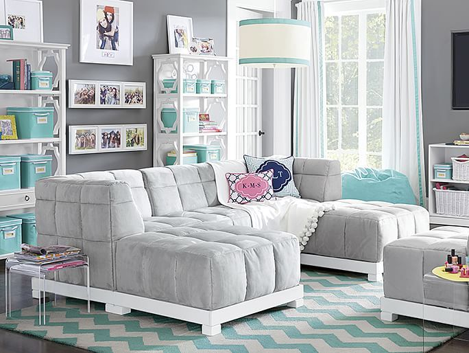 Baldwin Lounge | PBteen. This Would Be A Dream Of Mine To Do For My  Daughters Downstairs T.V. | Teen Room