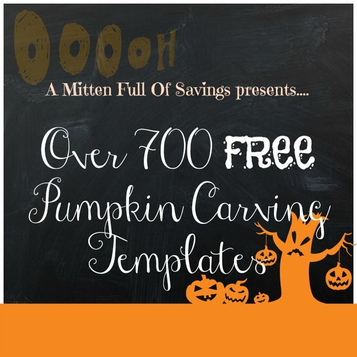 Over 700 FREE Pumpkin Carving Templates - A Mitten Full of Savings
