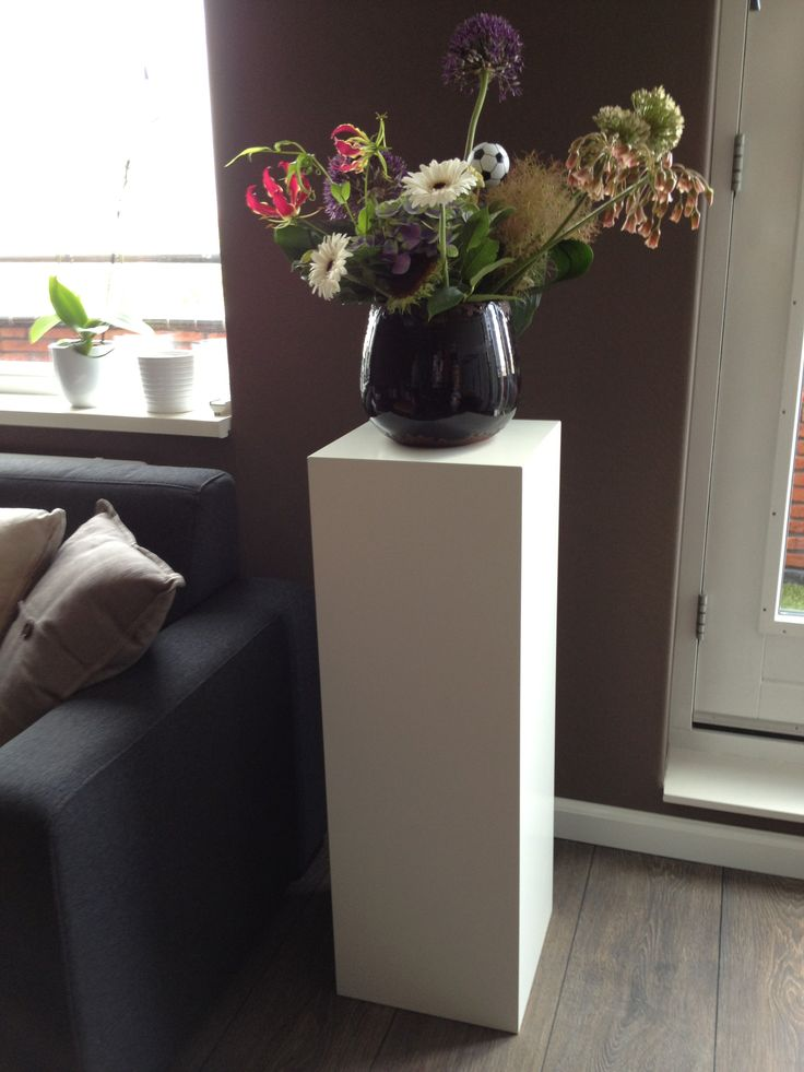 Solits mdf sokkel of zuil wit gespoten interieur for Decoratie vacht