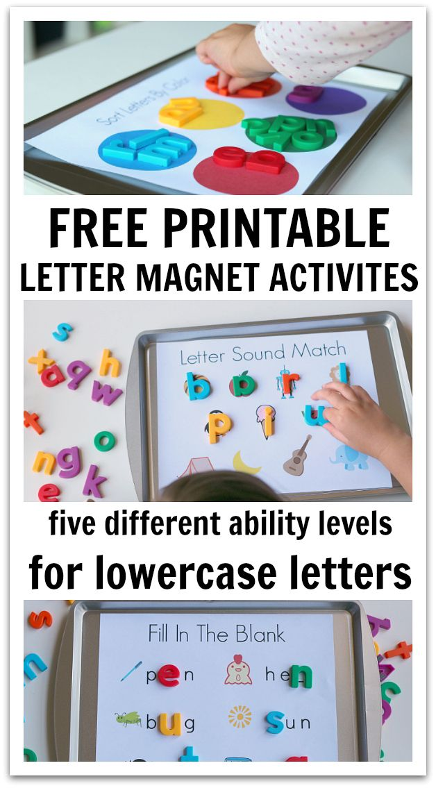 5 Ways To Use Magnetic Letters & Free Printables | No Time For Flash Cards | Bloglovin'