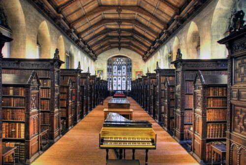 The Old Library of St John's College in Cambridge, Great Britain