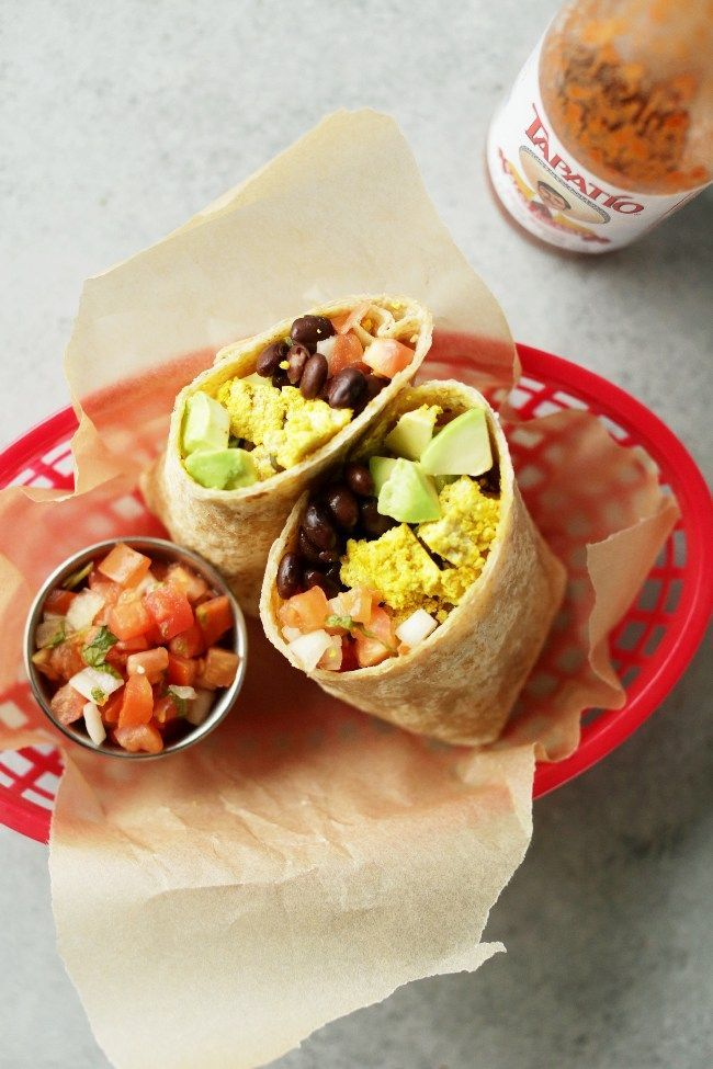 Vegetarian Meal Plans: The ultimate protein packed vegan breakfast burrito! 20-minutes to make, hearty and super tasty. Make ahead of time for an easy & healthy breakfast!