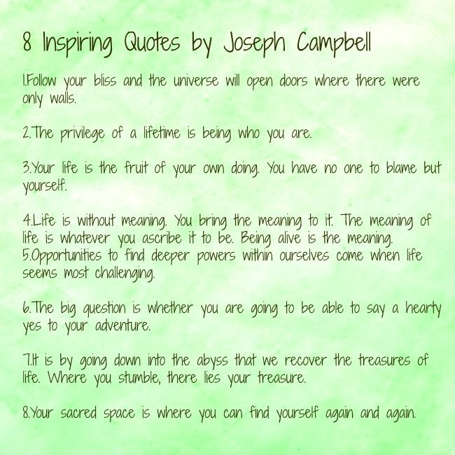 28 best joseph campbell my hero images on pinterest joseph these quotes by joseph campbell inspire me to live fuller and better fandeluxe Image collections