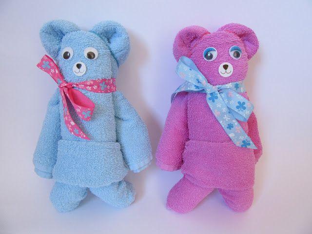 Handtuch-Origami: einen Teddy aus einem Handtuch falten