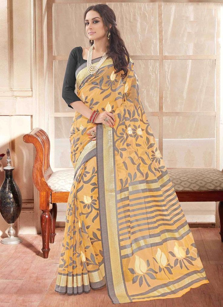 Buy latest sarees collection of designer wedding sarees for womens. Grab this art silk print work multi colour printed saree.