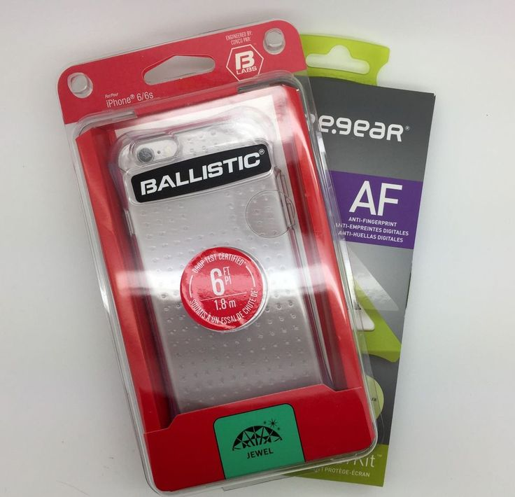 BALLISTIC Jewel Cover for iPhone 6/6S + Puregear Screen Protector #Ballistic