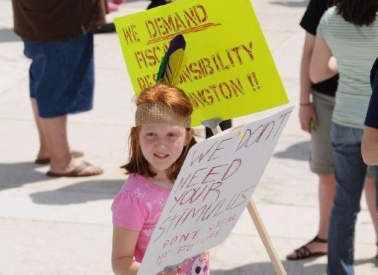 "A young girl in Baton Rouge, Louisiana does not need Obama's stimulus package and asks that he not ""steal"" her future--Paul Darby."