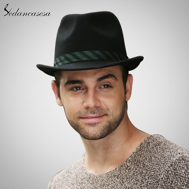 Men Fedora Hat 100% Australian Wool Material Trilby Hats for Male Formal Hat Wool Felt Hat Tag a friend who would love this! #shop #beauty #Woman's fashion #Products #Hat