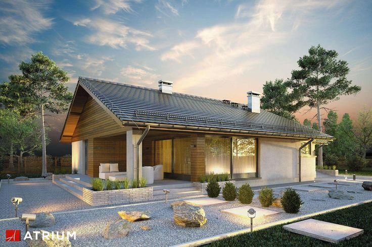 Projekty domów - Projekt domu parterowego KOS - wizualizacja 1