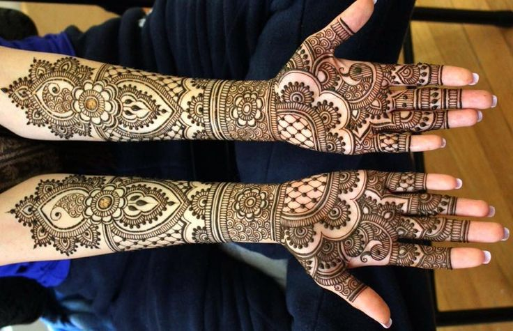 Full Arm Henna Designs for Eid