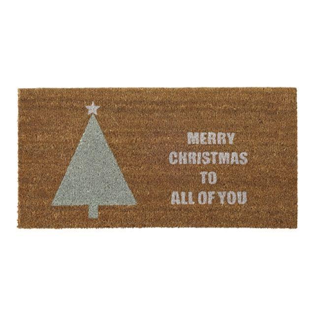 Zerbino, Marrone, fibra di cocco, con scritta Merry Christmas to....... e Albero di Natale - FORME e COLORI articoli per la casa, articoli regalo, liste nozze, cristallerie, porcellane a Treviglio, Bergamo