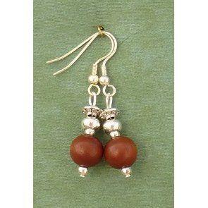 Wooden Bead Silver Earrings £5.99