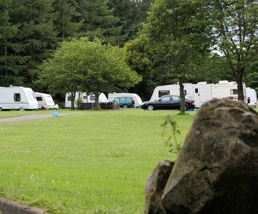 Nunnykirk Caravan Club Site - very peaceful and great for dog walking. Its very close to the lovely village of Rothbury