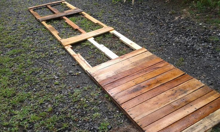 Pallets made into a deck expansion ponds and decks for Pond made from pallets