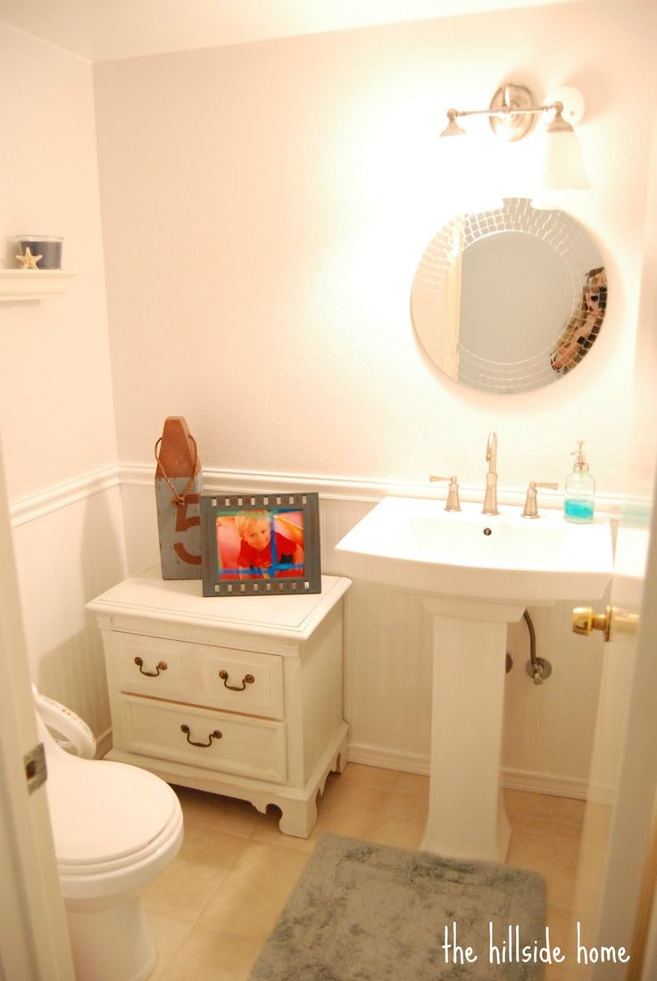 Remodelaholic | Clean and Simple Half Bath