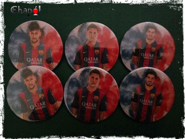 Pedido de jugadores del Barça. #chapaspersonalizadas #Chapó #barça #messi #neymar #luissuarez