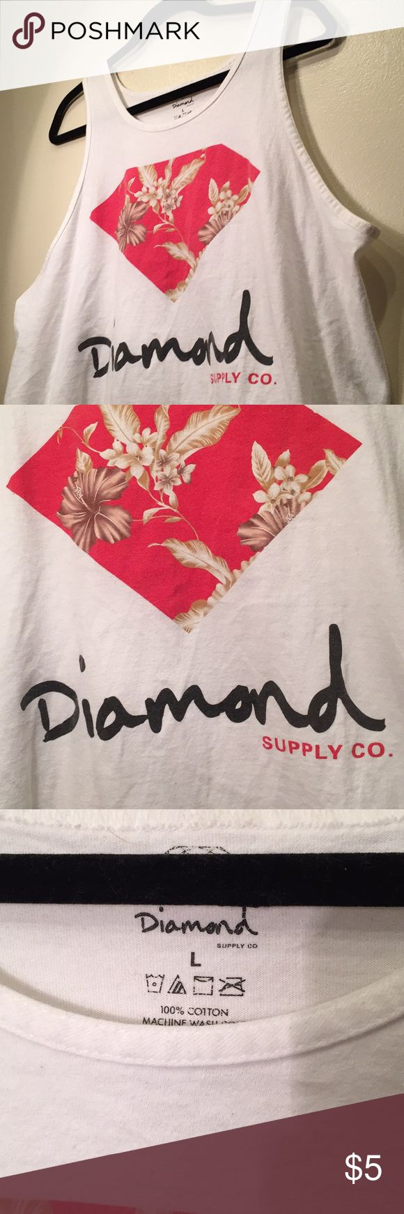 Diamond supply co. Bro tank Large Brand: Diamond supply co. Size:  large Fabric:100% cotton Condition: Slightly worn Price:$10  shipped ✈️ #sizelarge  #mensclothing #clothingforsale #mensfashion Diamond Supply Co. Shirts Tank Tops