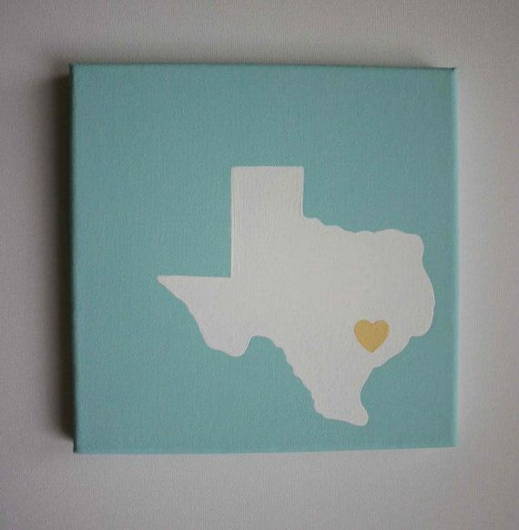 My hubby is from Texas. I would love one of these along with a good ol' Indiana print, hanging side by side. From PaintMeAPicture at Etsy.