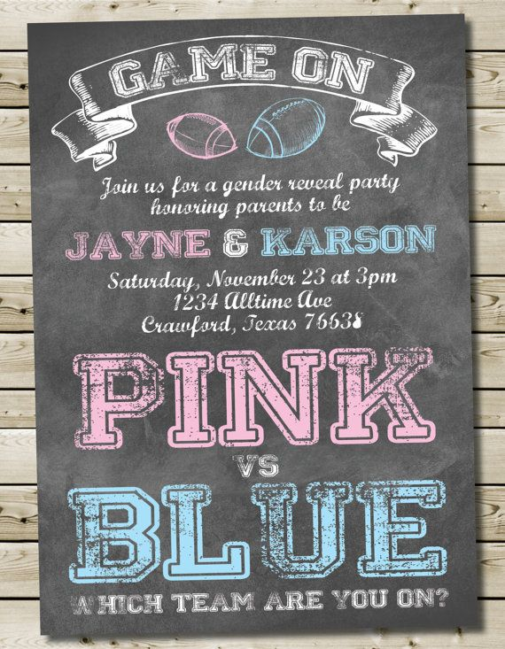 55 best images about dessert gender reveal party! on pinterest, Baby shower invitations