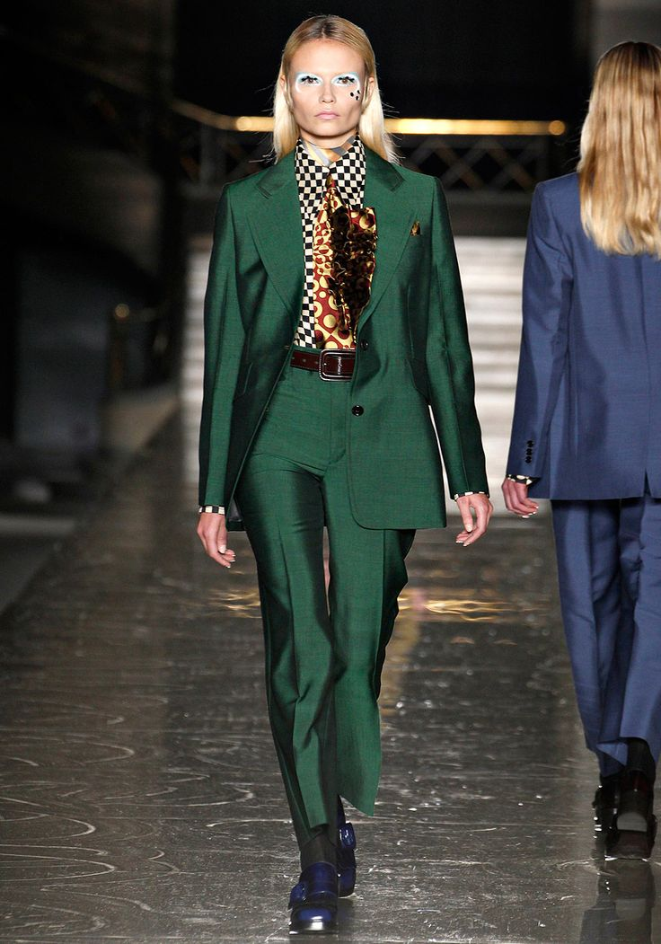 MIU MIU RTW FALL2012 Okay, so this combo is a little intense. Talk about menswear from the 1970's. But if I had to pull something from this look, I LOVE green, especially The Wizard of Oz green.