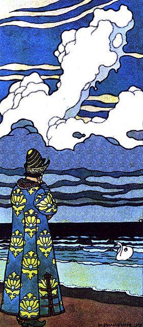 Ivan Bilibin (1876-1942) was a Russian artist who illustrated Russian folk and fairy tales.