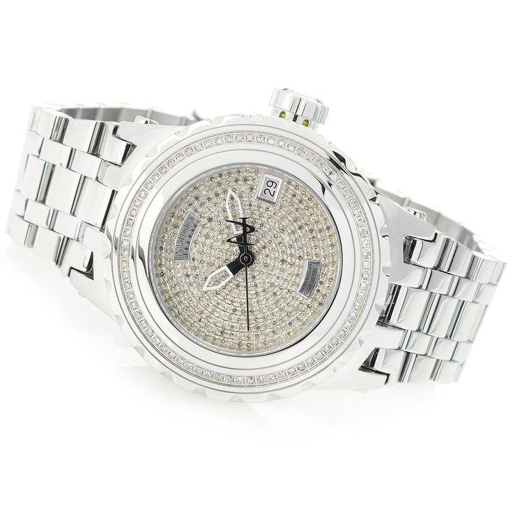 627-385 - Invicta Reserve 40mm Specialty Subaqua Swiss Quartz 1.34ctw Diamond Stainless Steel Bracelet Watch