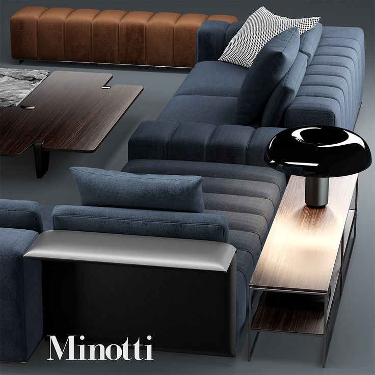 3d Sofa Minotti Freeman Model 777 In 2019 Sofa Sofa
