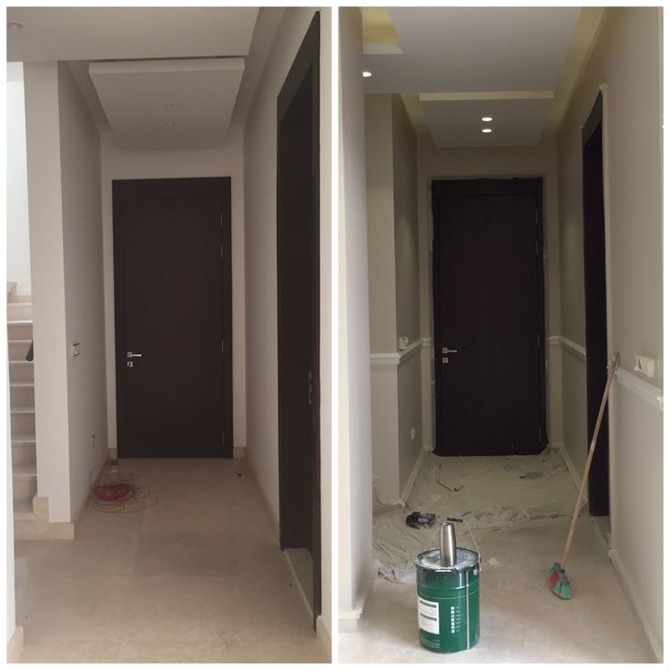 Entry, narrow hallway, chair rail, modeling