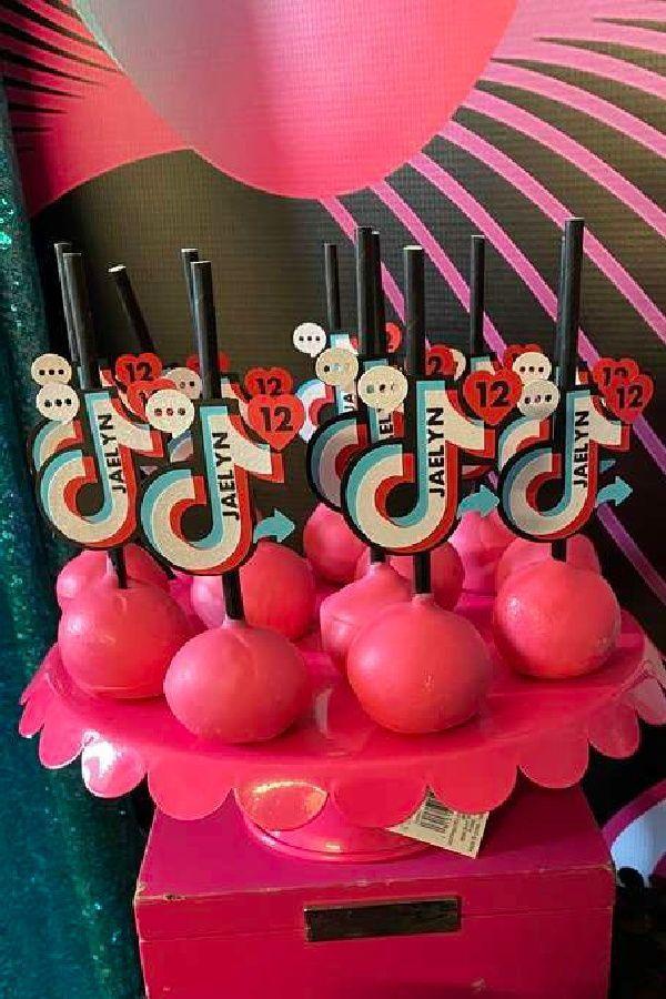 Tik Tok Birthday Party Ideas Photo 3 Of 10 Birthday Cake Pops Cool Birthday Cakes Birthday Sweets