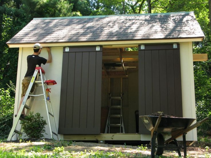 160 Best Sheds Images On Pinterest Woodworking Plans Garden Houses And Outdoor Sheds