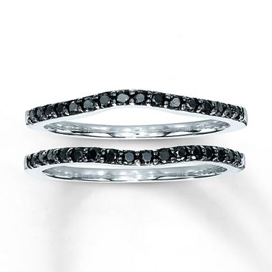 Diamond Wedding Bands 1/3 ct tw Round-Cut 14K White Gold $770 for the pair