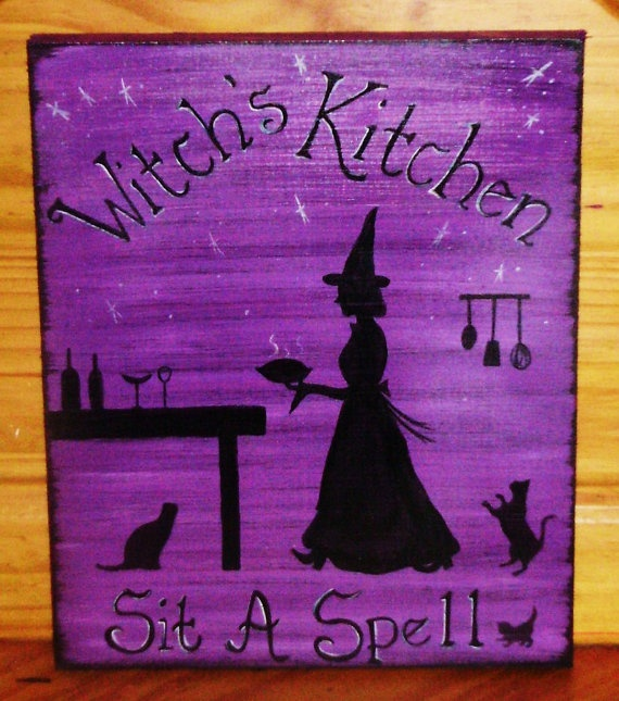 """""""Witch's Kitchen"""": Witch Witchcraft, Witches Kitchen, Wiccan Decor, Mothers Day Gifts, Kitchens Signs, Custom Signs, Kitchens Witch, Witch Kitchens, Christmas Gifts"""
