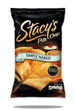 bag of stacy's simply naked pita chips - I can't believe they aren't made of butter! They have a wonderful buttery flavor, but are only 130 calories a serving. Great in hummus!