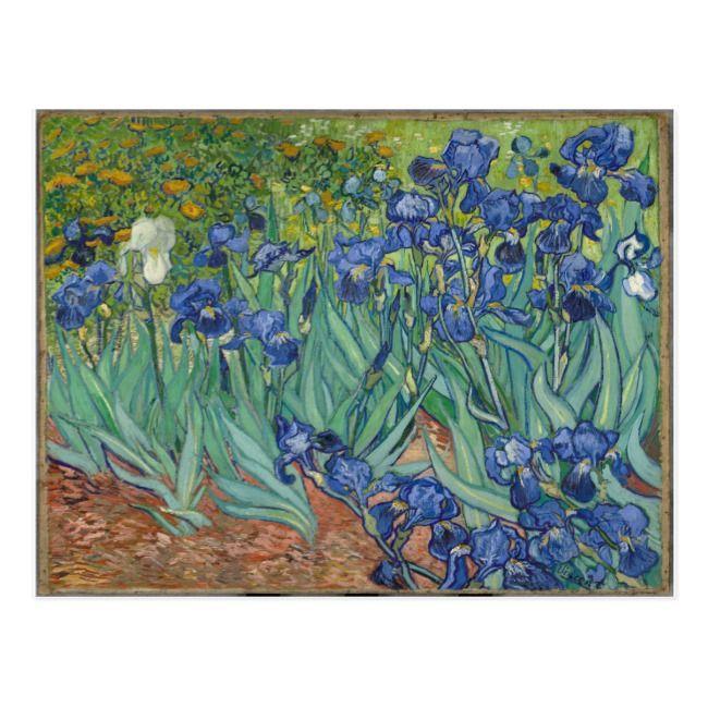 Van Gogh Irises Landscape Painting Postcard | Zazzle.com