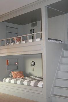 boys' room ideas, enclosed queen bed - Google Search